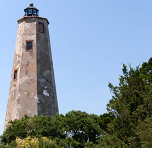 Old Baldy of Bald Head Island NC. Oldest standing lighthouse in NC