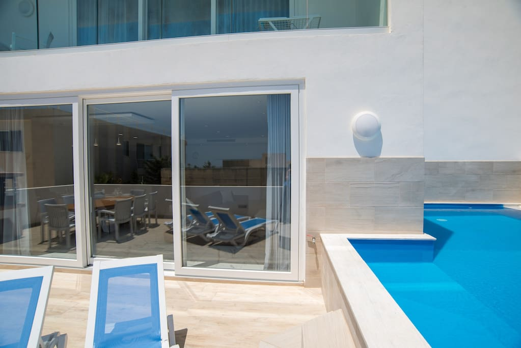 Outdoor Area; Sun Loungers and Private Pool
