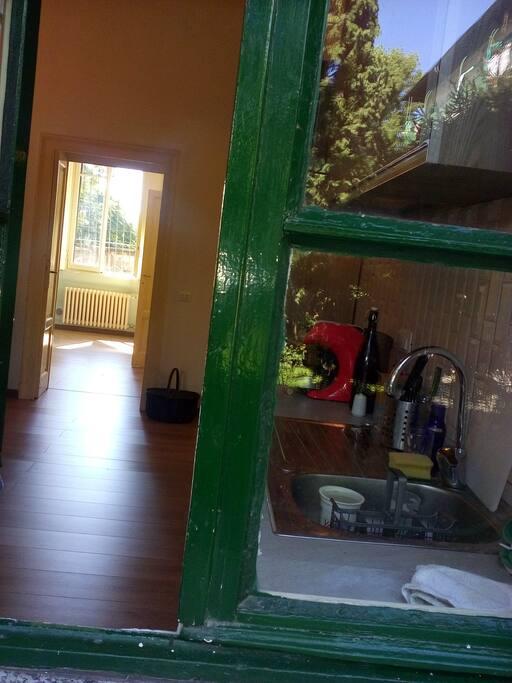 dalla finestra della cucina