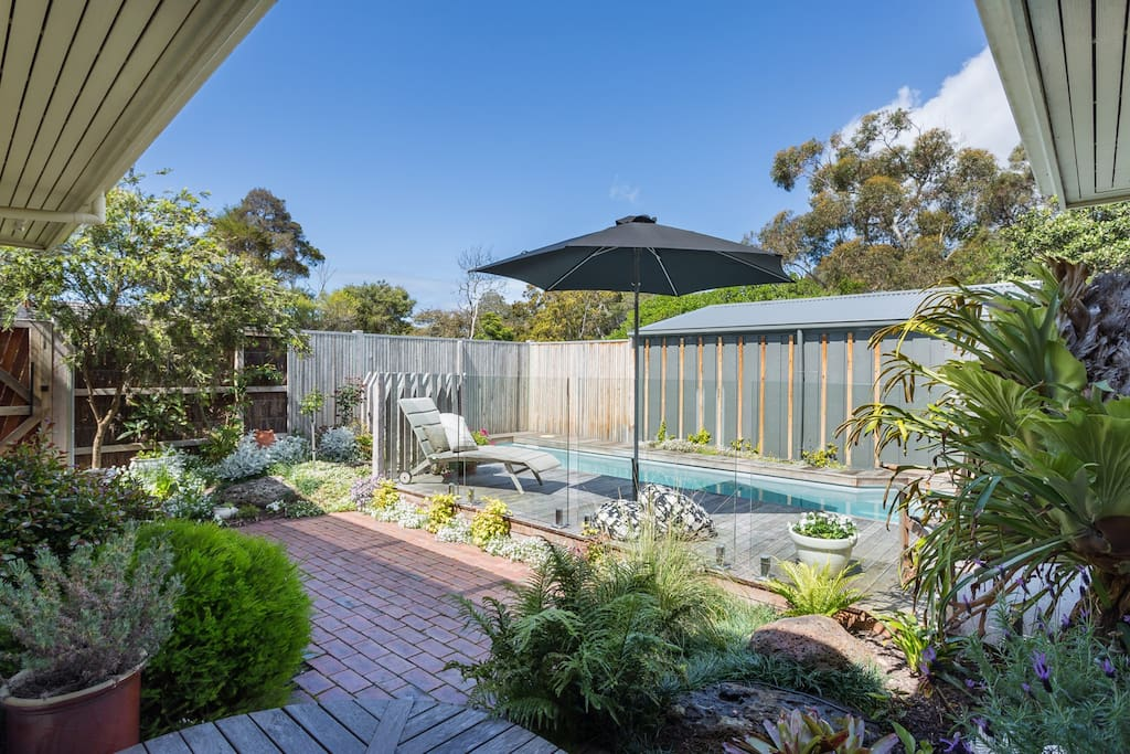 Pool with garden outlook