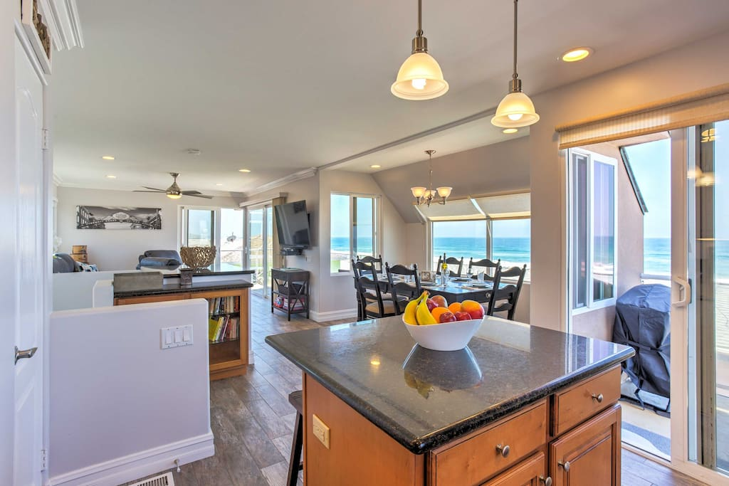 Never miss out on the coastal views with an abundance of windows in the open living area.