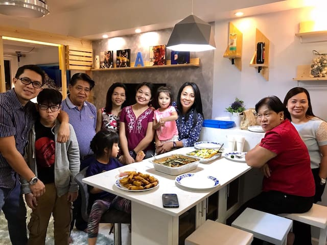 My family during the dedication of the unit. One of my siblings is living in the same condo while the others are just living in the city also. You might meet any of us during your trip to Davao.:)
