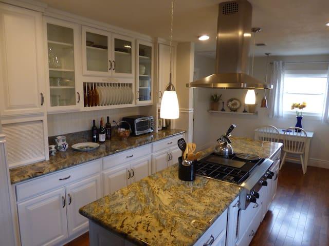 Gourmet well supplied kitchen