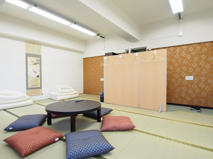Tatami room with shared bathroom near Miyajima!
