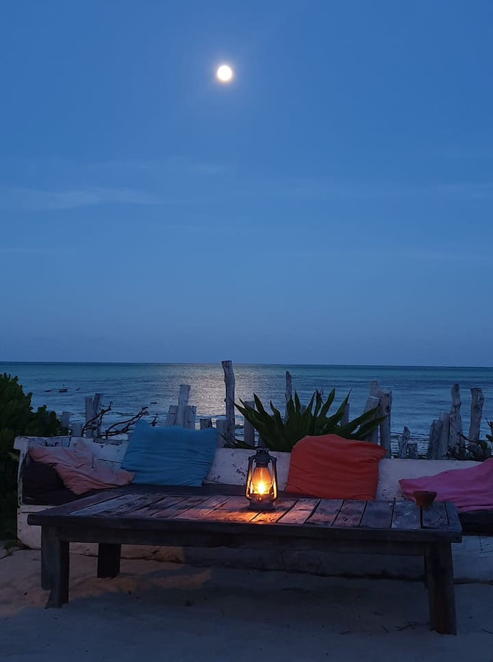 Moon Villa on the beach with spectacular views