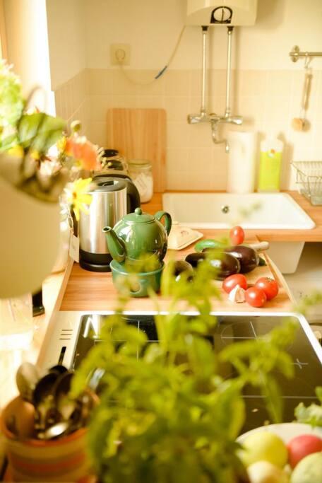 Gemütliche, voll eingerichtete Wohnküche