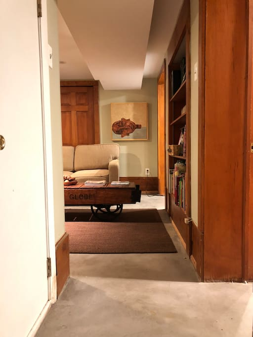 Entrance in to apartment.   Laundry room is next to your apt.