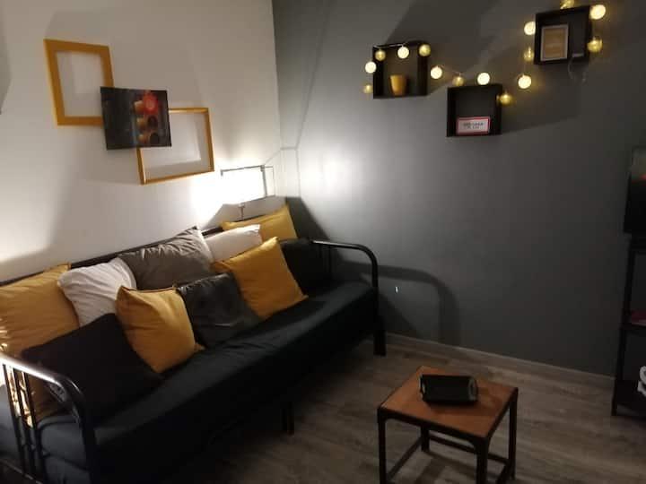 Studio climatisé tout confort, très bien situé