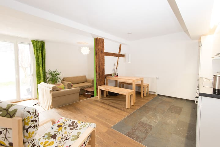 Big Apartment with Garden in Historic City Centre
