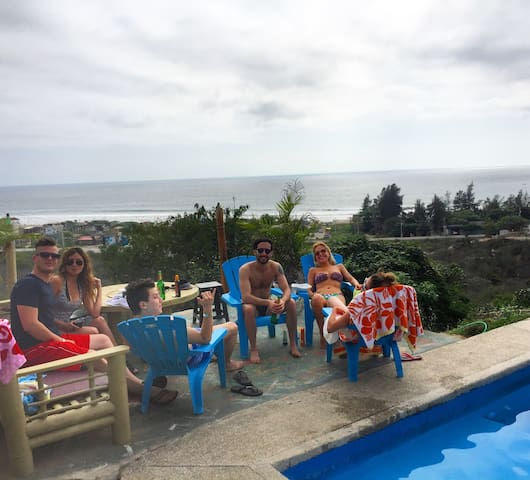 Private Room with sea view - Montanita - Guesthouse