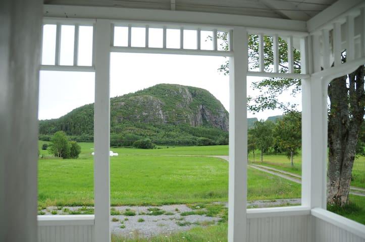 Utsikten fra verandaen