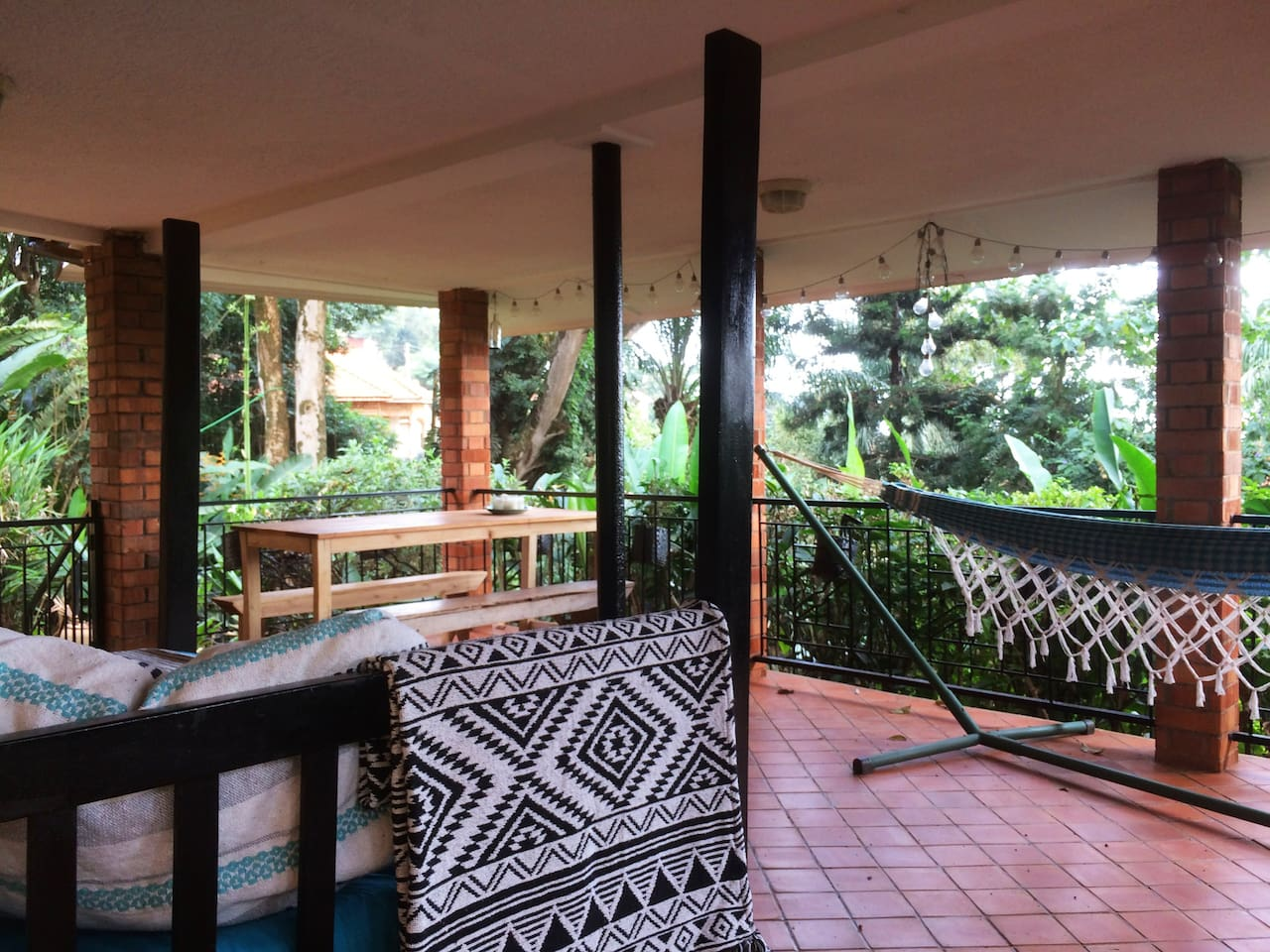A cool breeze, green garden and wonderful view from our terrace