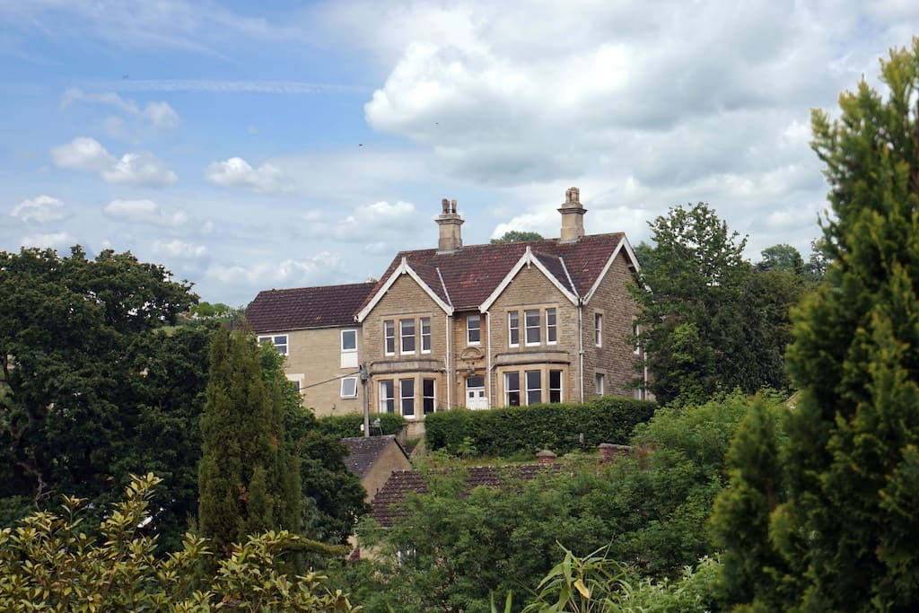 A large Edwardian house with plenty of space and far reaching views