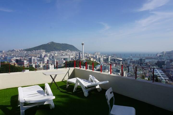 자깨 하우스 - #남포동#오션뷰#ocean view#TwinRoom#rooftop파티