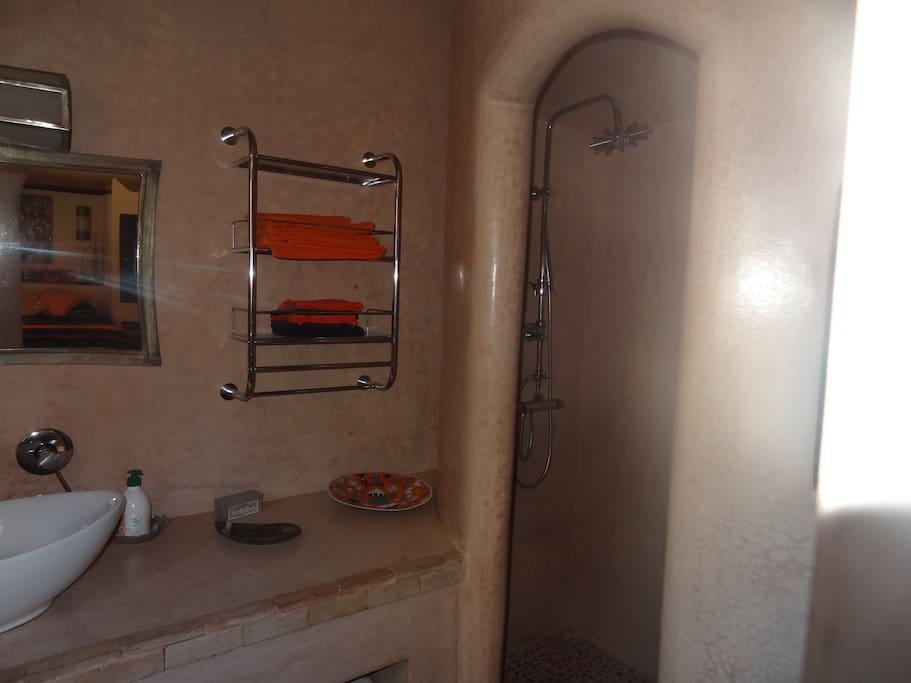 Salle de bain et toilettes privés