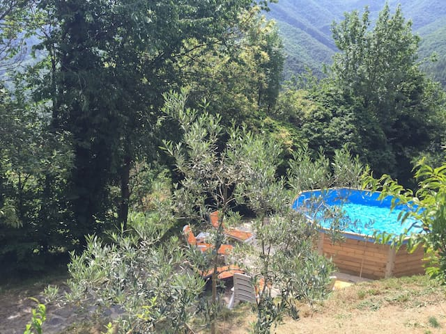 Grande maison cévenol avec piscine - Sablières - Hus