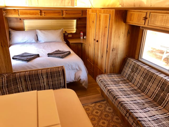 Double bed, single bed sofa, tv