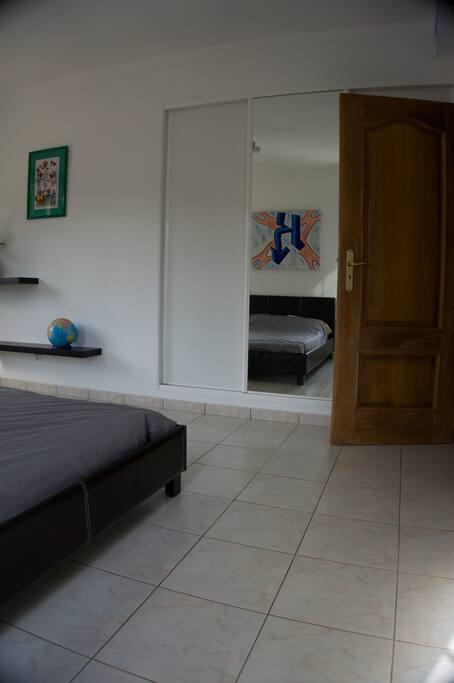 Bedroom with built-in cupboard