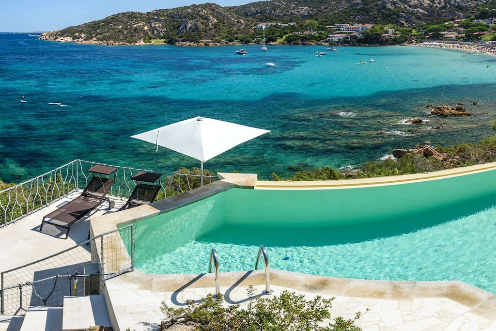 Terrace on the sea, with private pool