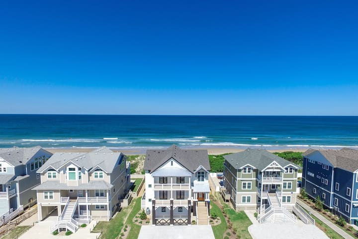 1611 The Salted Rim Retreat * Oceanfront * Heated Private Pool & Hot Tub * Elevator * Theater Room