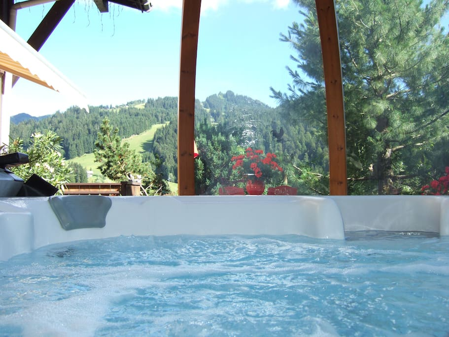 hot tub with amazing views