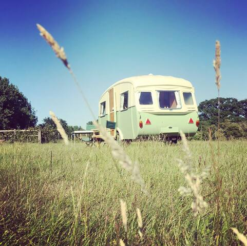 Vintage caravan accommodation in Essex