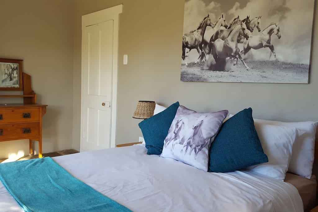 The Stone room - sleeps 2 - double bed - en suite bathroom.  Private entrance and patio.