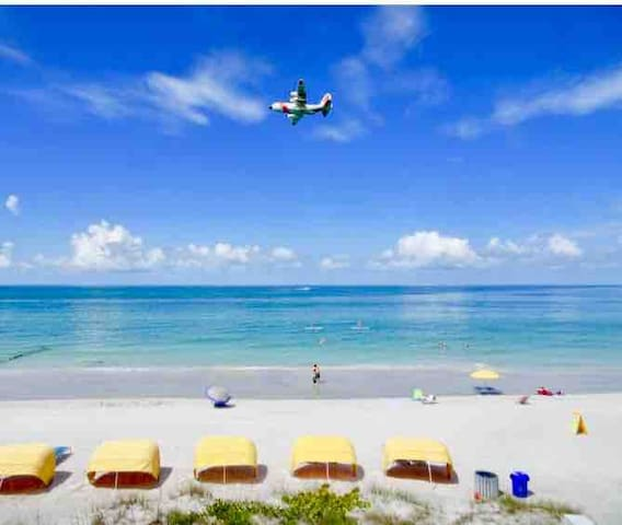 Well, this is the REAL reason you come here...sugar white beaches, beautiful water, and of course SUN!!!  The beach is literally a few minute walk from the condo.  Take the supplied beach wagon, chairs, and umbrella and make a day of it.  Enjoy!