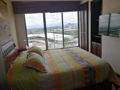 Loft o Apartaestudio privado con hermosa vista.