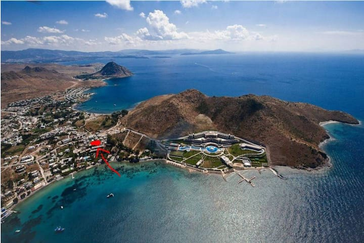 Bodrum Akyarlarda denize 50 metre lüks daire