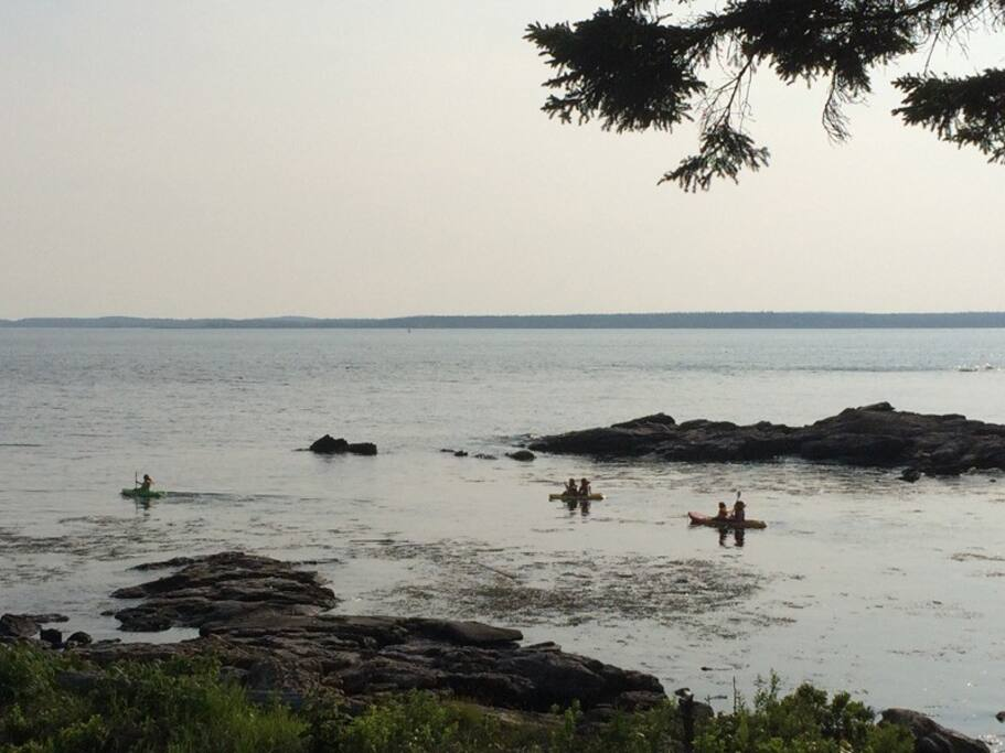Kayaking from Barnacles is easy and fun.  Bring you own or rent locally