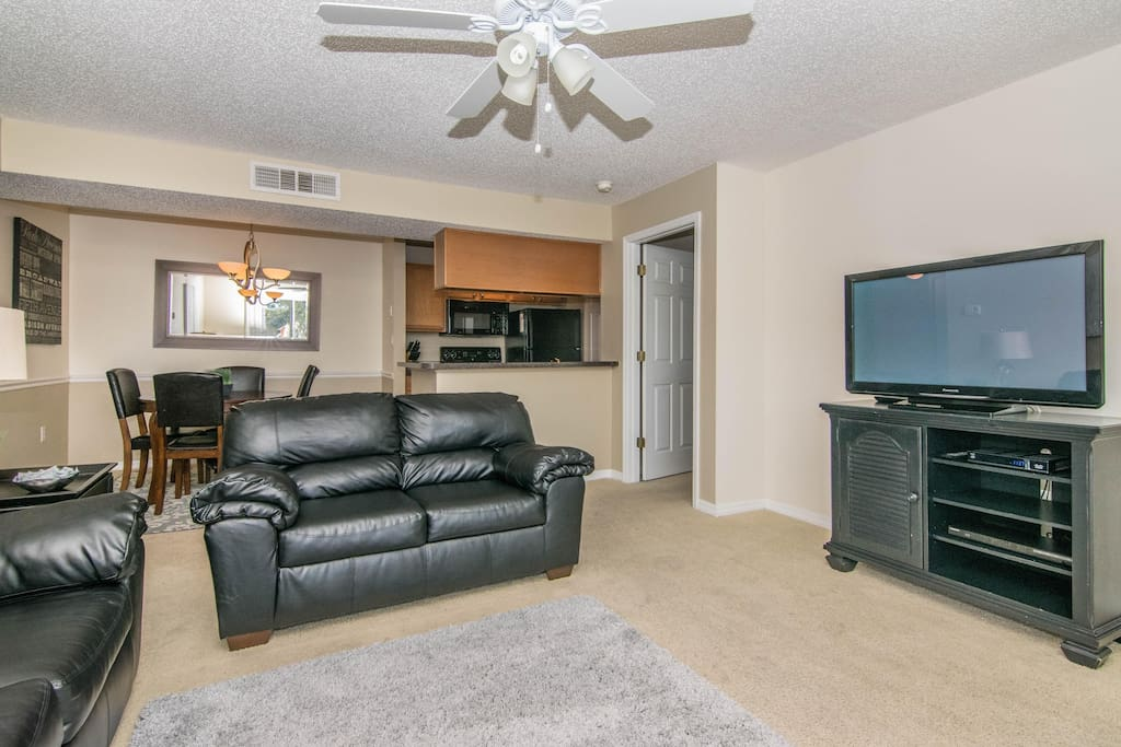Living Room w/ Flat Screen TV