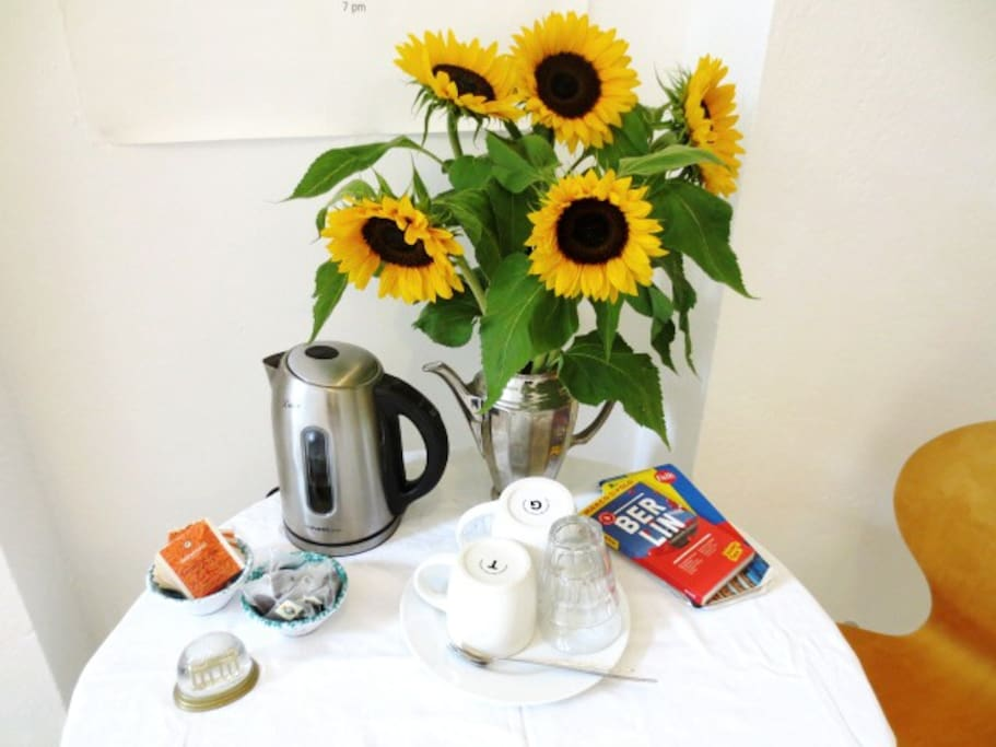 Your dining table with coffee & tea
