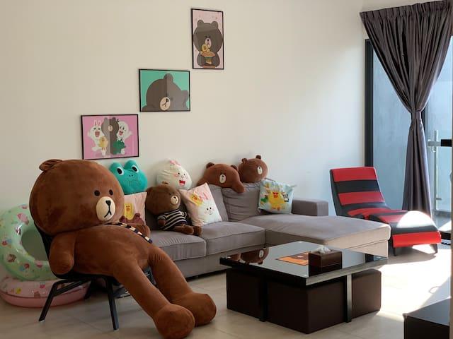 LINE Friends Home -3BR |WiFi | @Atlantis Melaka