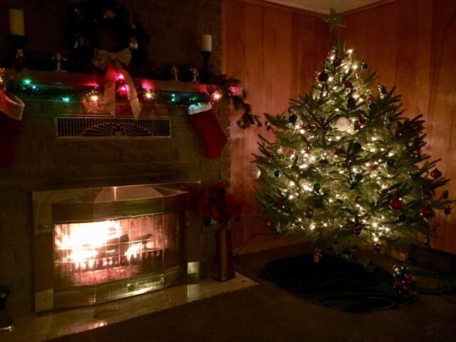 The cabin is a great place to spend holidays with friends and family