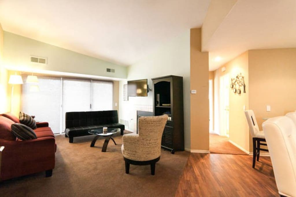 Relax in the spacious living room.