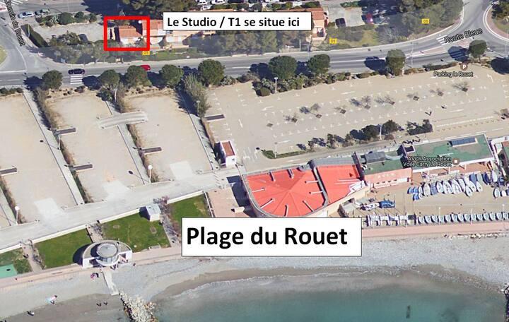 Studio/T1 en bord de plage