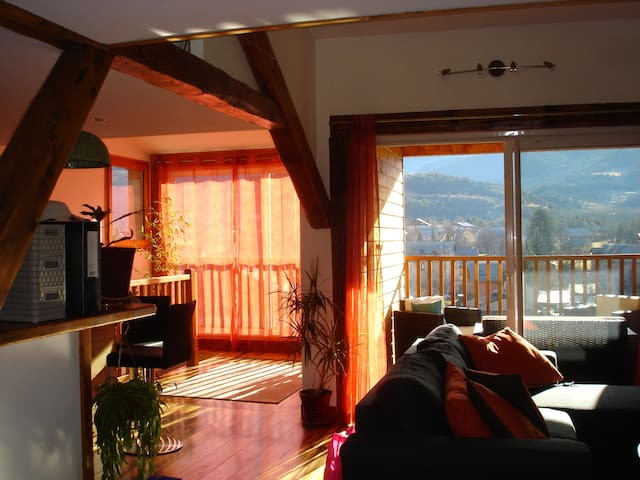 Appart T3 de charme sous les toits Jausiers - Jausiers - Apartment
