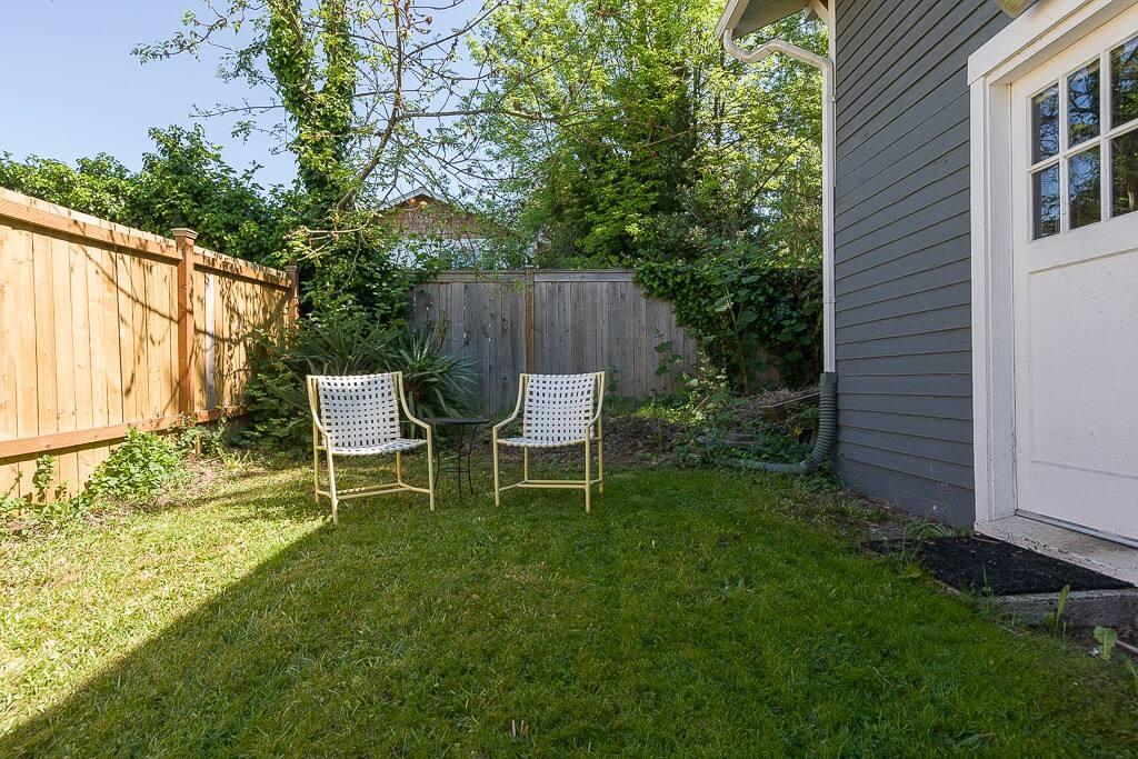 Large private backyard.