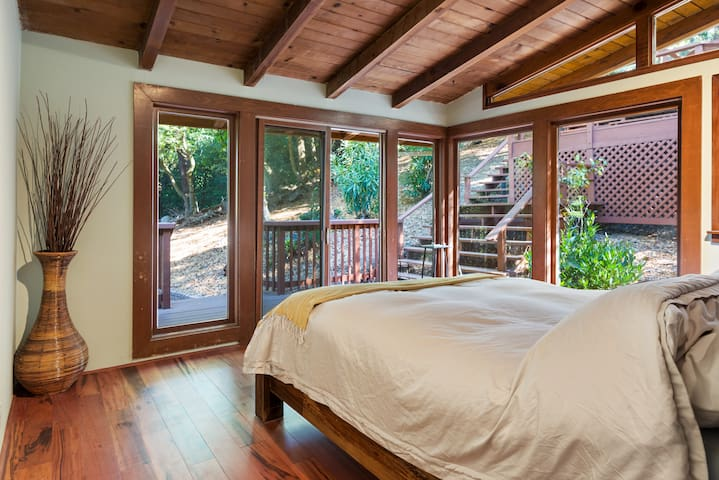 Wakeup in dreamy wooded setting