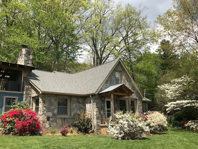 Mountainview Patio in Stone Cottage - Swannanoa - Other