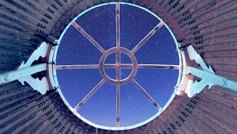 Yurta sotto le stelle