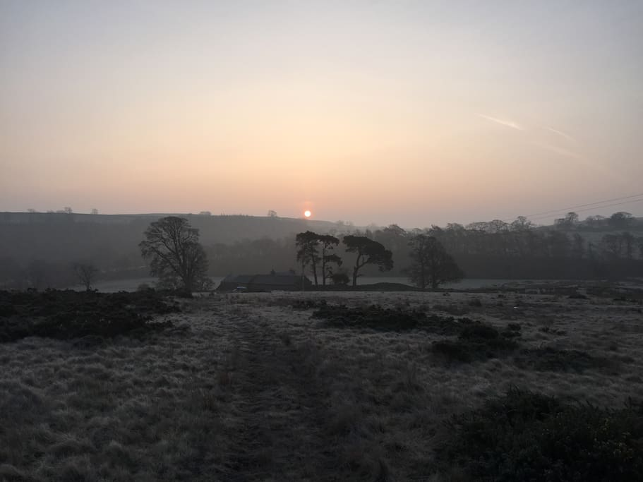 Sunrise in early spring at Goodcroft