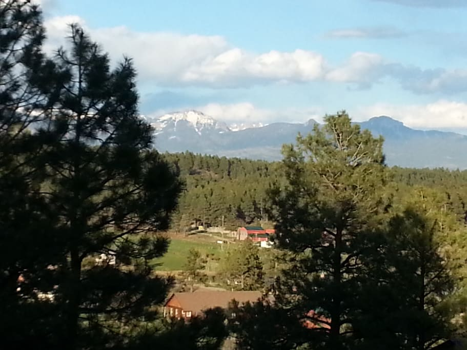 View of the southern San Juan Mountains from the front deck