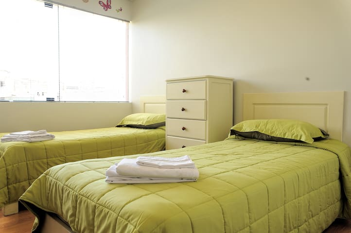 Twin beds for your kids or friends