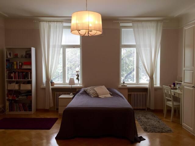 Spacious bedroom in a beautiful shared flat - Helsinki - Huoneisto
