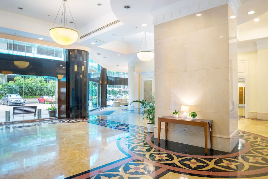 Apartment lobby overview. If you have business partner require visit on your stay, Apartment lobby is good choice to have short meeting.