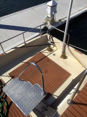View of bottom rear deck from the middle deck