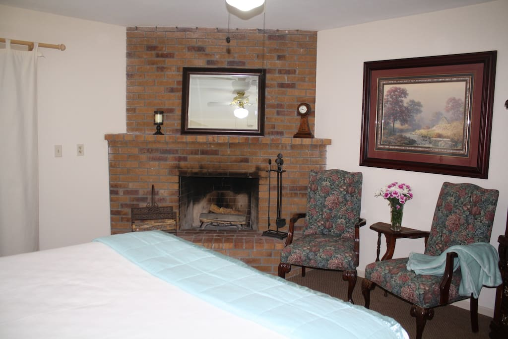 Fireplace included!