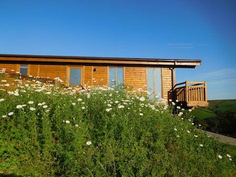 2 log cabins stunning views, near Cardiff, Wales.